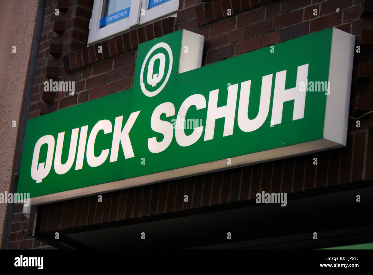 Markenname: 'Quick Schuh', Berlin. - Stock Image