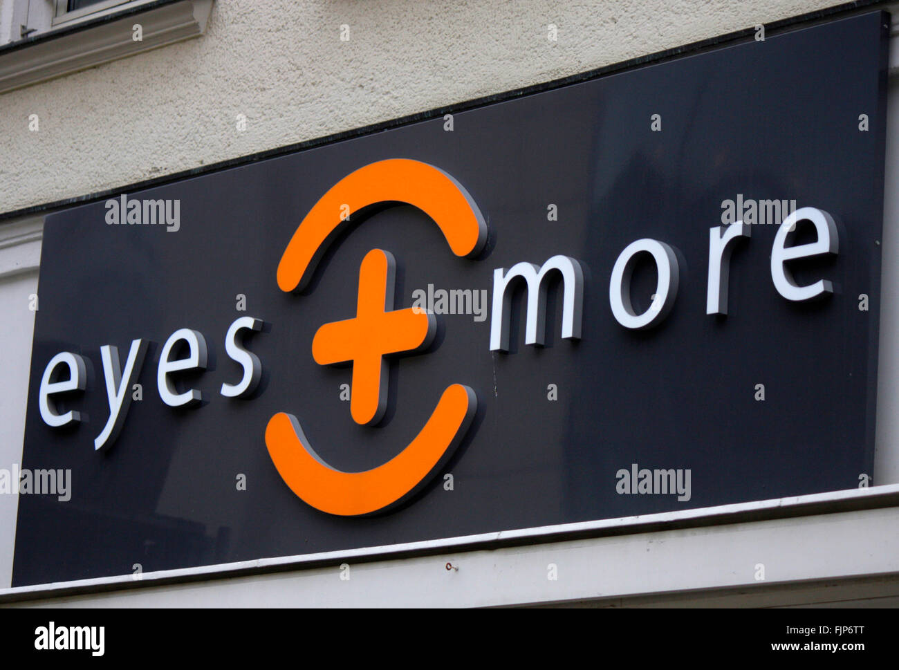 "Markenname: ""Eyes and more"", Berlin. Stock Photo"