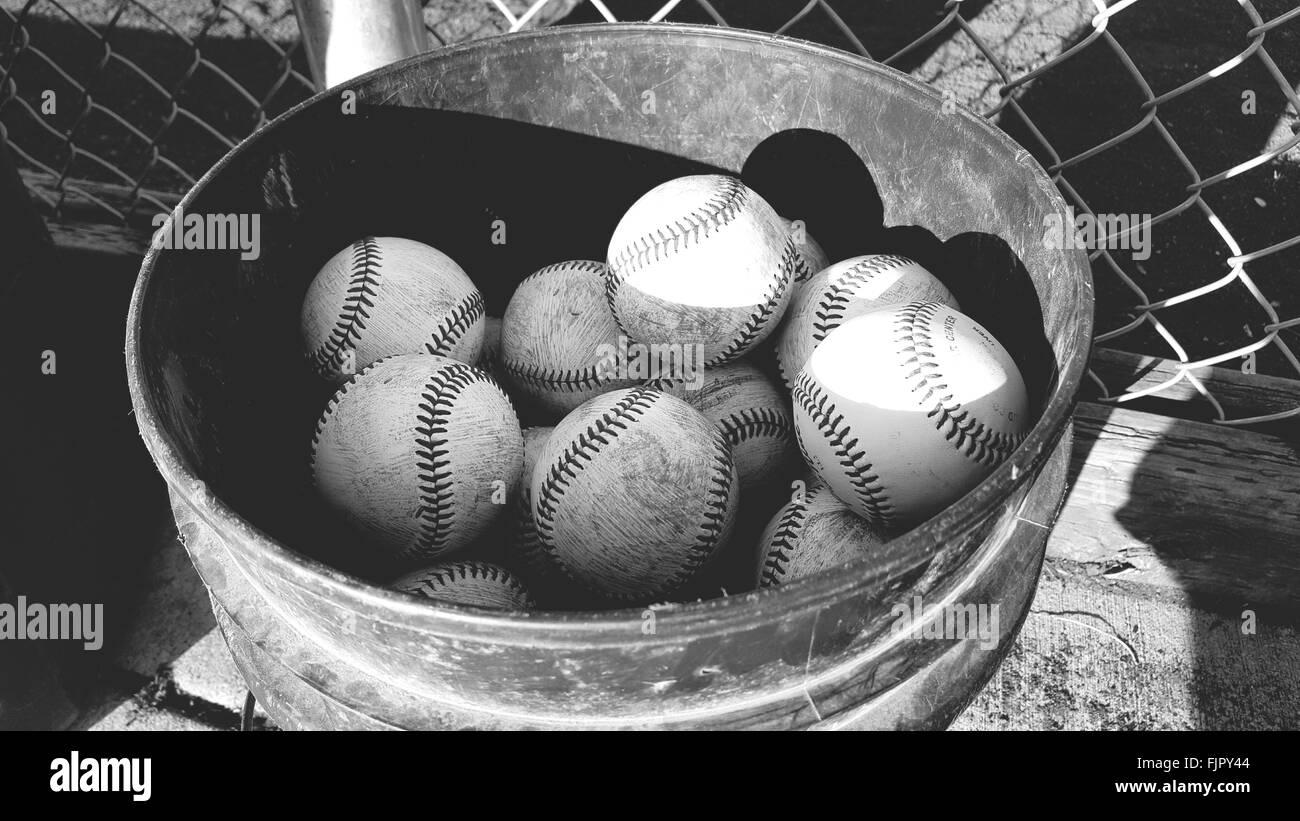 Baseball Bucket Stock Photos & Baseball Bucket Stock Images