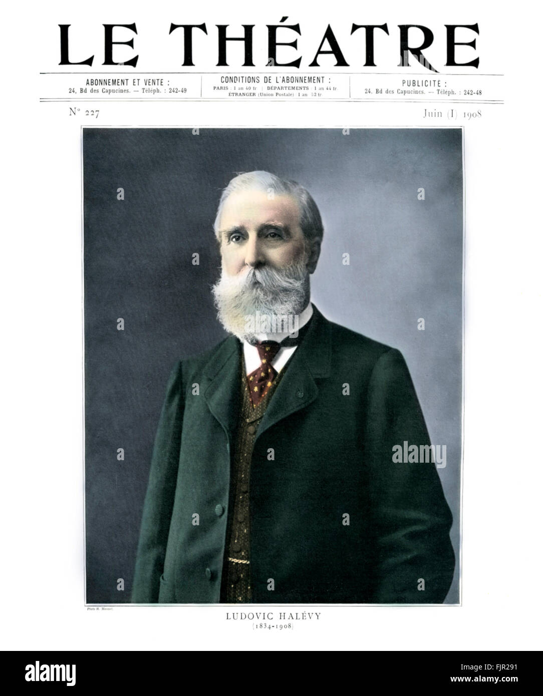 Ludovic Halévy, portrait, 1908.  French author and playwright 1 January 1834 – 7 May 1908. - Stock Image