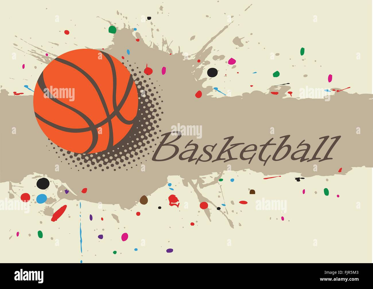 Basketball Banner Abstract Splash Basketball Background With Stock