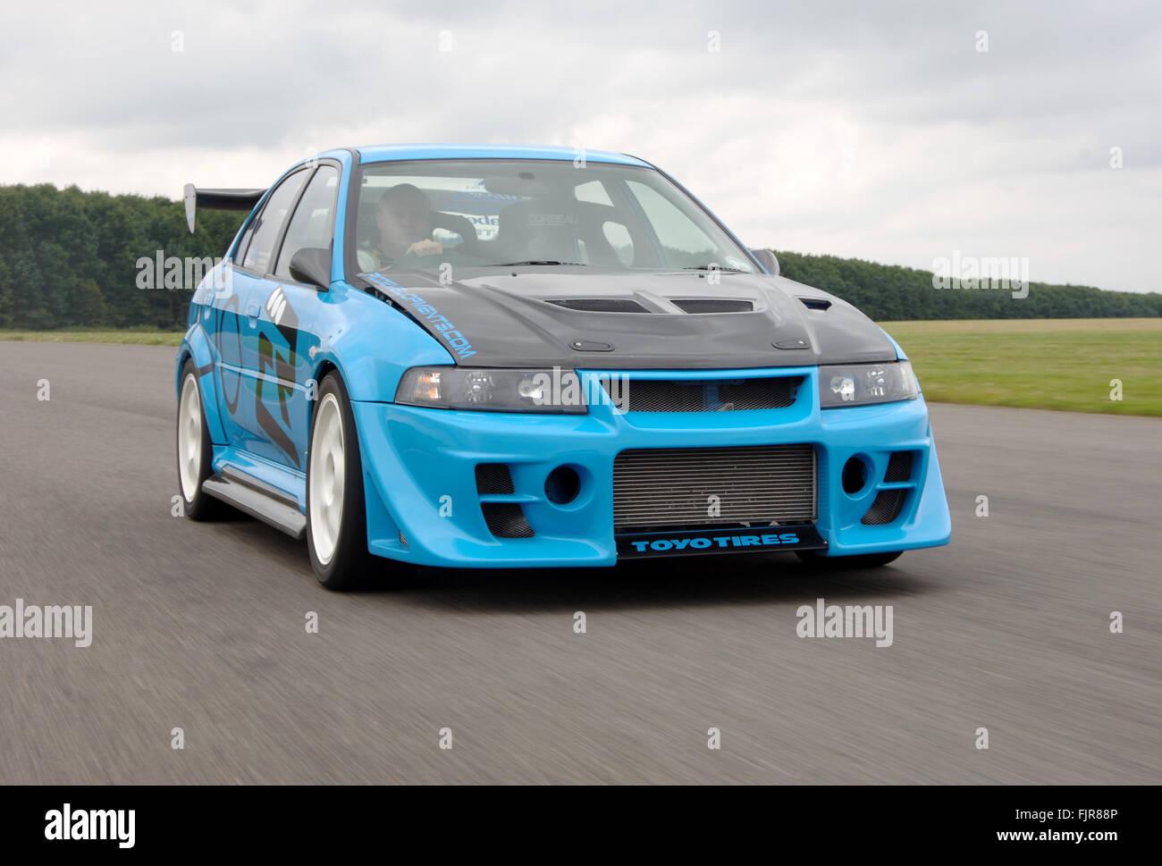 Mitsubishi Evo XI 1999 - 2001 modified for racing - Stock Image
