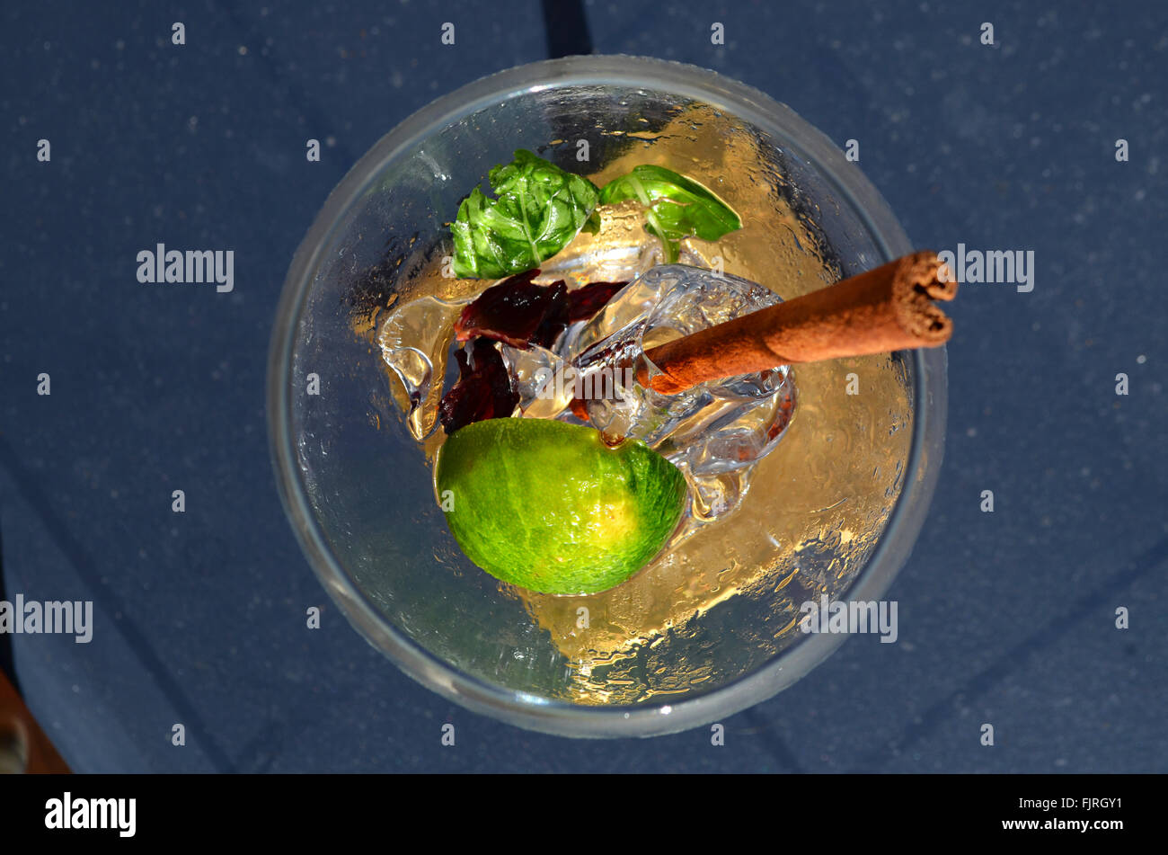 Gin and tonic in the sunshine - Stock Image