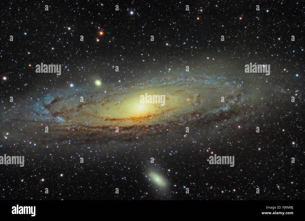 M31 Andromeda galaxy - Stock Image