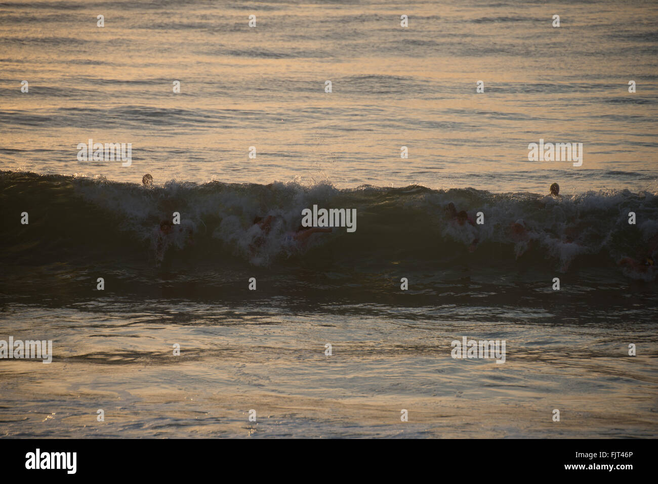 Wave Rushing At Shore - Stock Image
