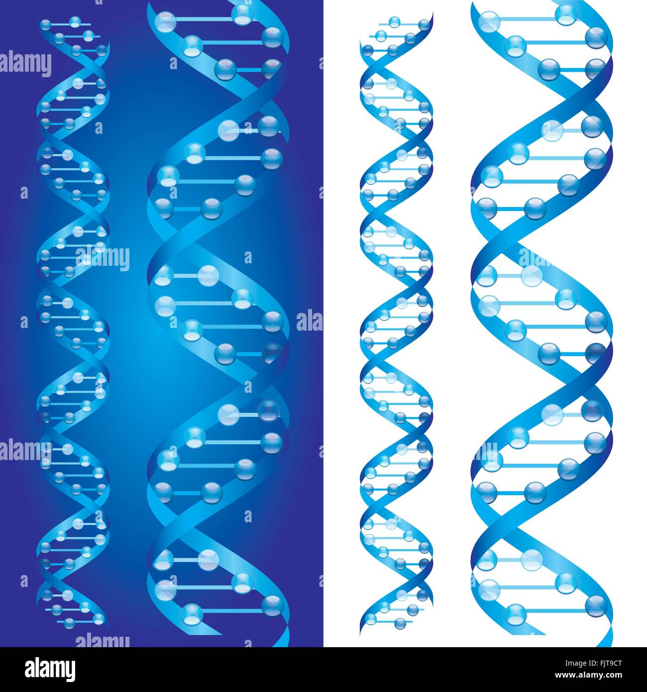 Blueprint dna chains on blue and white background stock vector blueprint dna chains on blue and white background malvernweather Choice Image