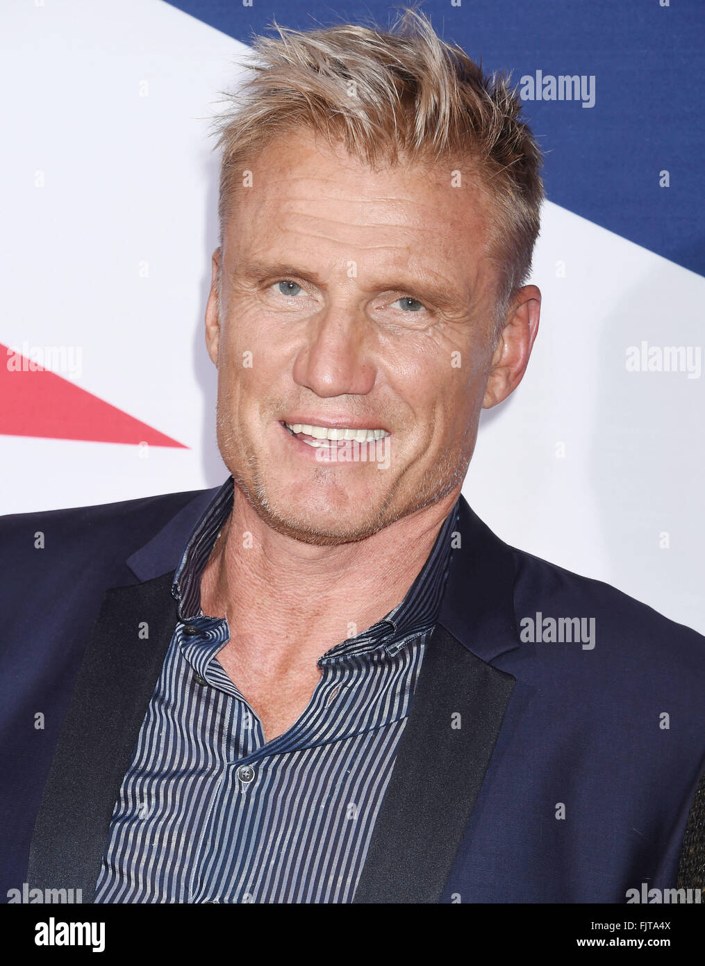 DOLPH LUNDGREN Swedish film actor in March 2016. Photo Jeffrey Mayer - Stock Image