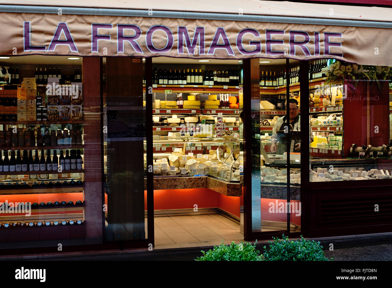 Cheese store in Paris, France - Stock Image