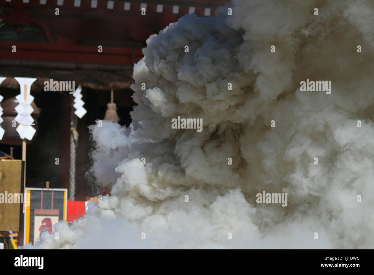 Smoke In Temple - Stock Image