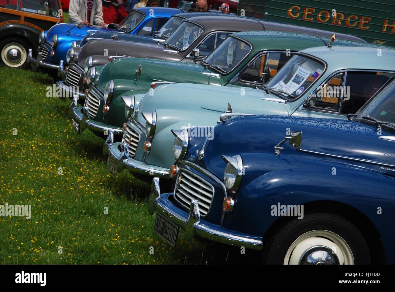 2013 Morris Centenary celebrations at Cornbury Park, Charlbury Oxford, United Kingdom - Stock Image