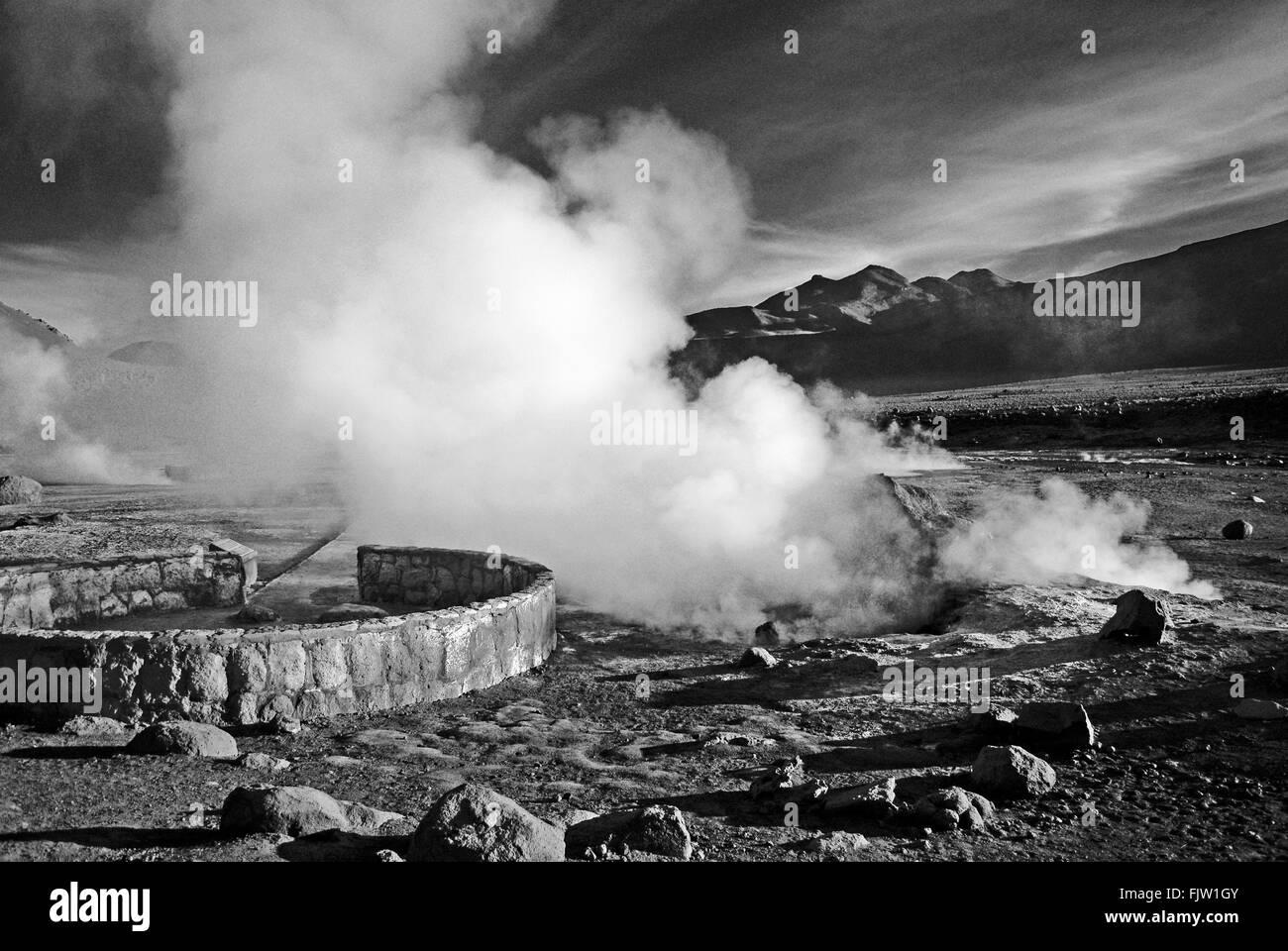 Steam On Landscape - Stock Image