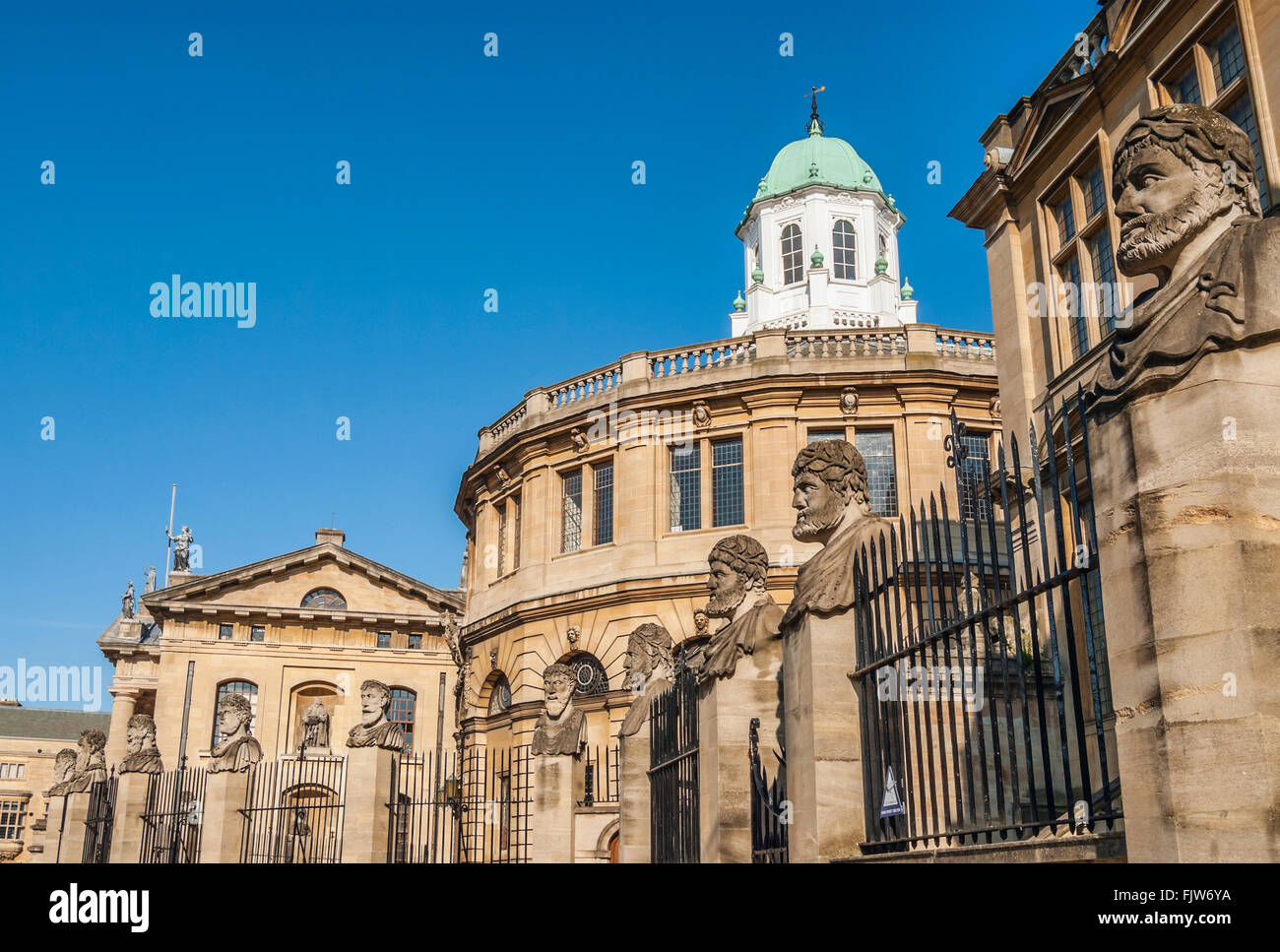 Sheldonian Theatre in Oxford, England, built from 1664 to 1668 for the University of Oxford, Oxfordshire, England Stock Photo