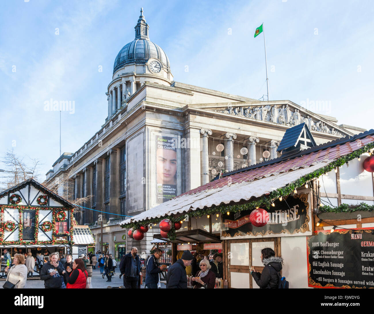 Christmas Market, Nottingham, England, UK - Stock Image