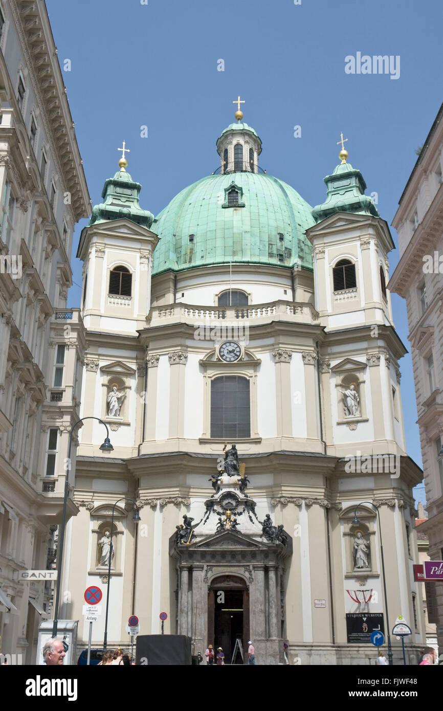 Peterskirche Vienna Stock Photos Peterskirche Vienna Stock Images