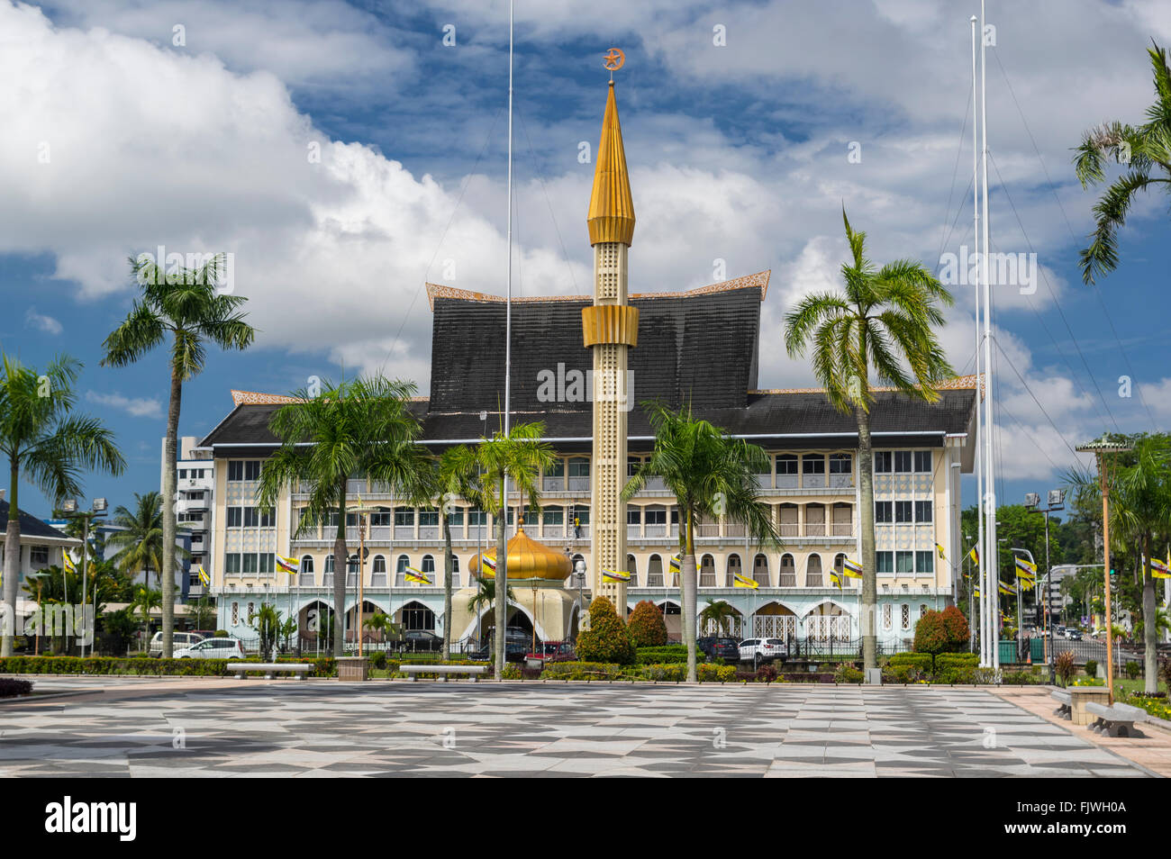 Jabatan Hal Ehwal Syariah, the Ministry of Religious Islamic Affairs, in Bandar Seri Begawan, Brunei Darussalam. - Stock Image