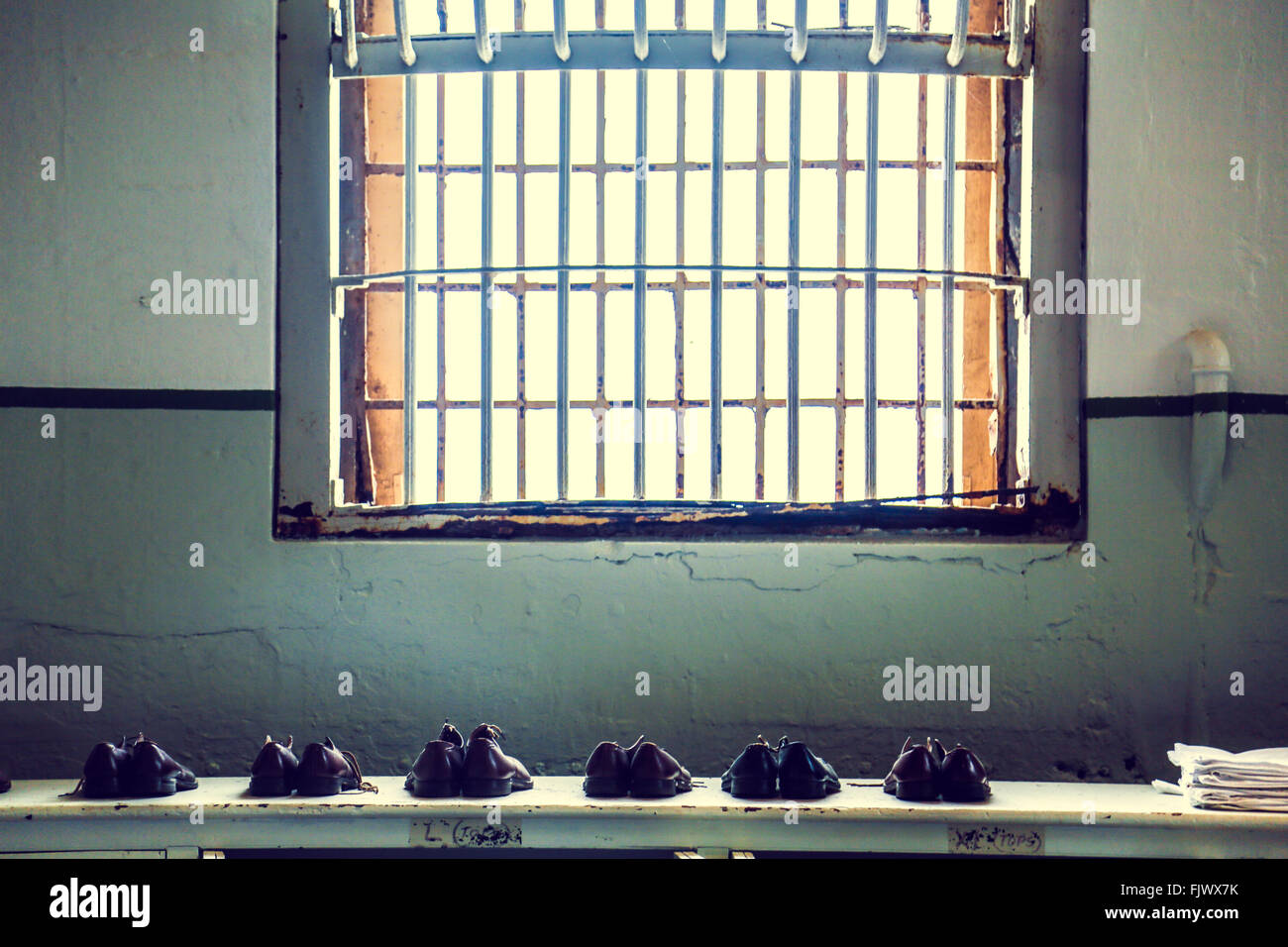 Alcatraz Prison Shoes, San Fransisco - Stock Image