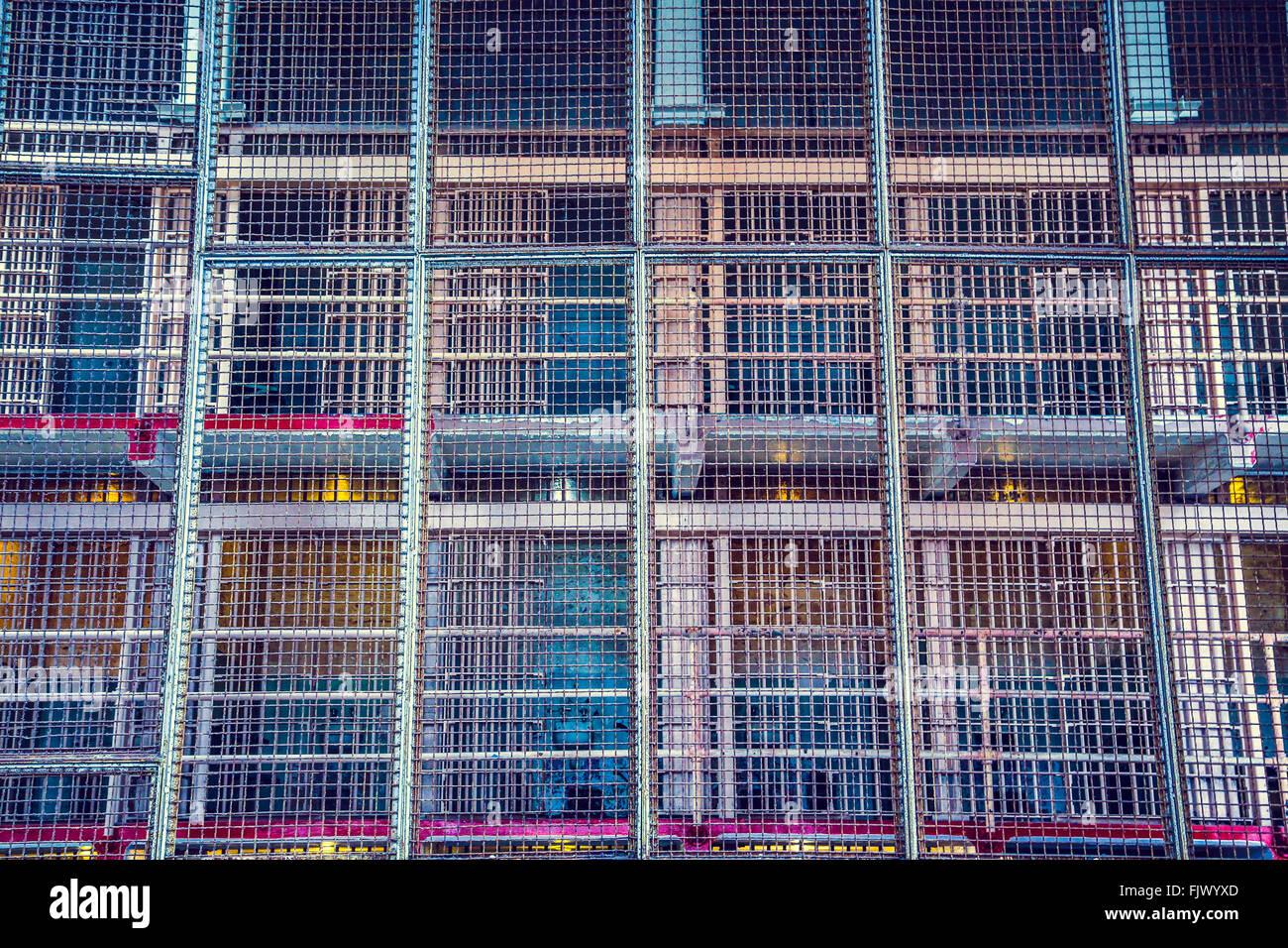 Alcatraz Prison bars, San Fransisco - Stock Image