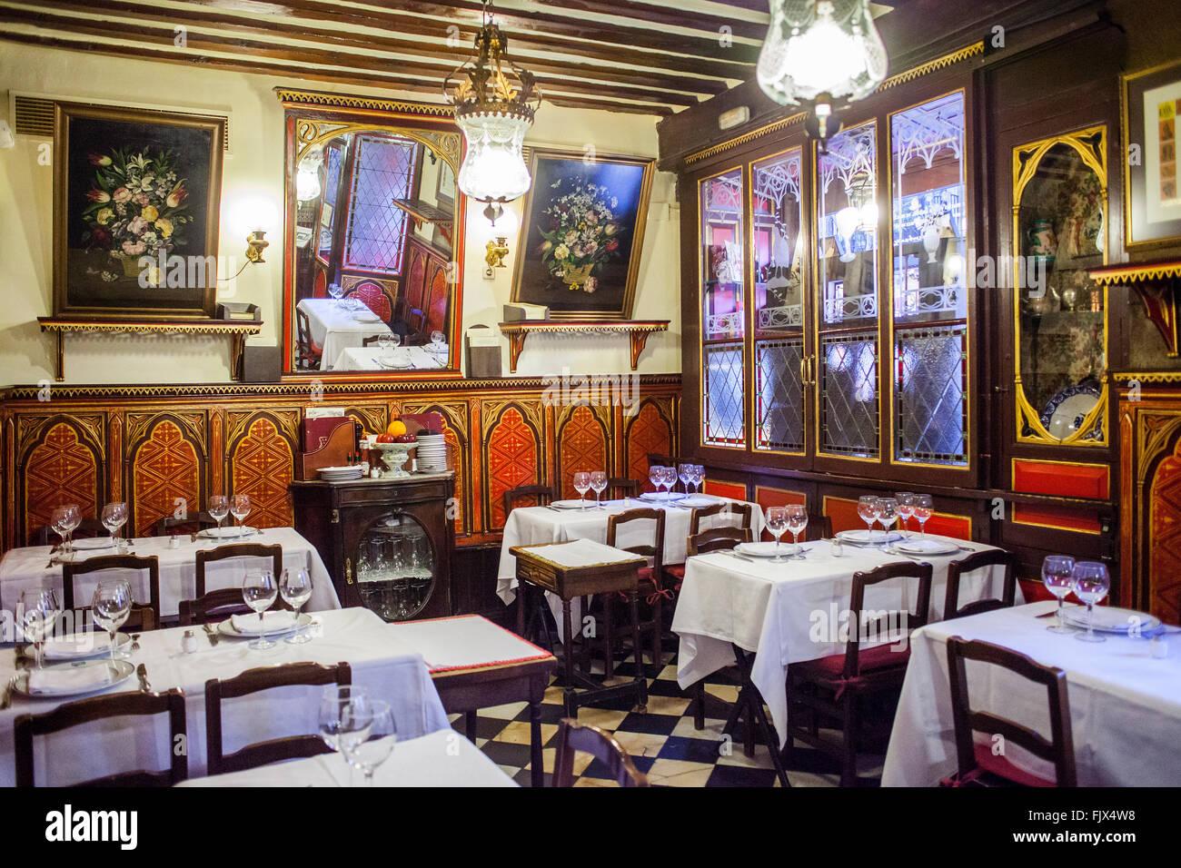 Sobrino de botin restaurant calle cuchilleros 17 madrid for Casa botin madrid