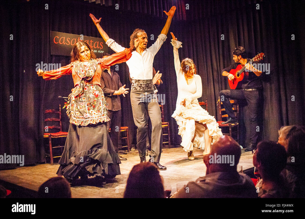 Casa Patas, tablao flamenco, Calle de los Canizares 10, Madrid, Spain. - Stock Image