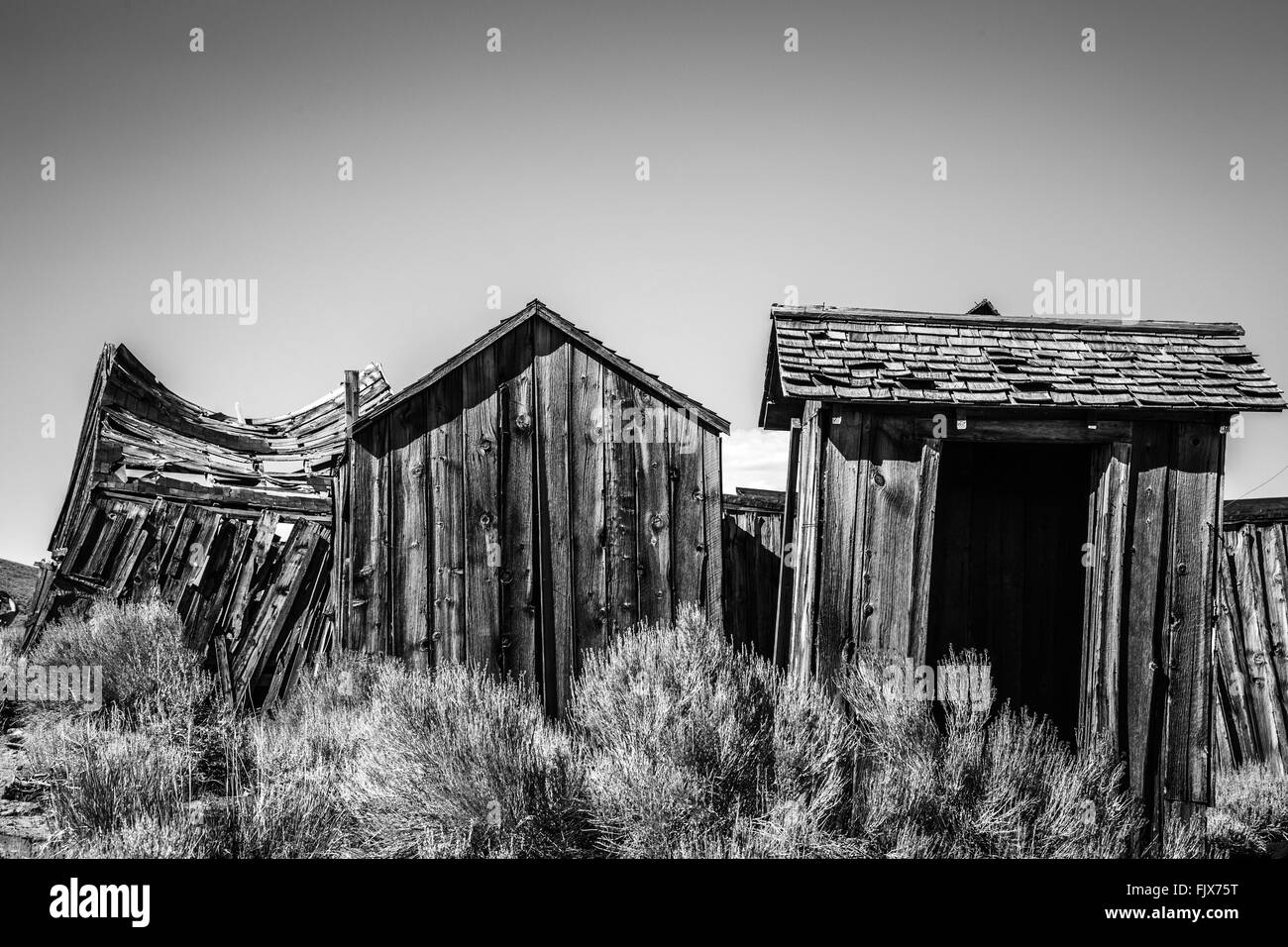 Ghost town of Bodie, ex Gold Mine, California - Stock Image