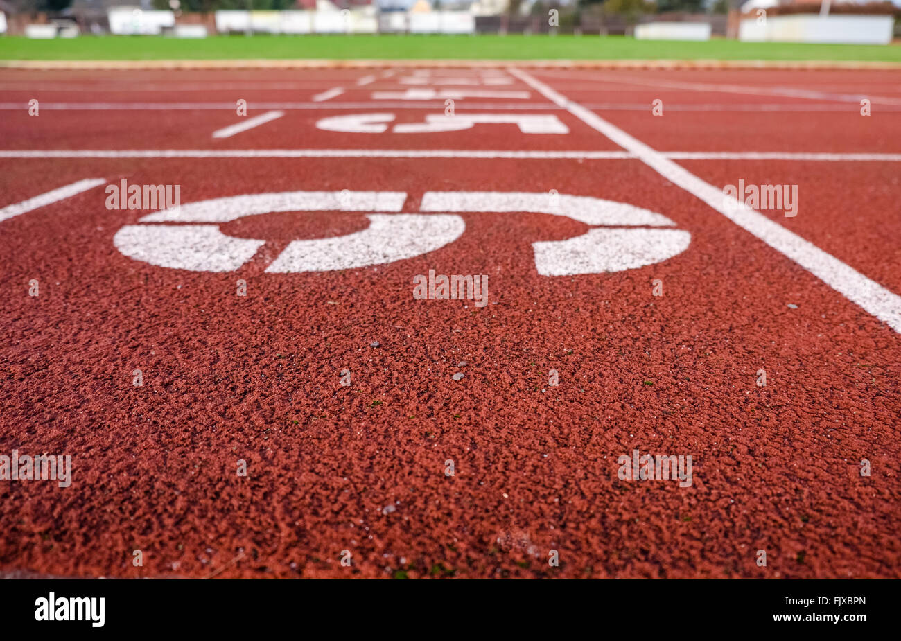 Numbers On Running Track - Stock Image