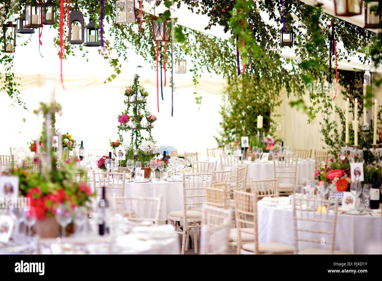 Wedding Table Decoration Roses Daisies Stock Photos Wedding Table