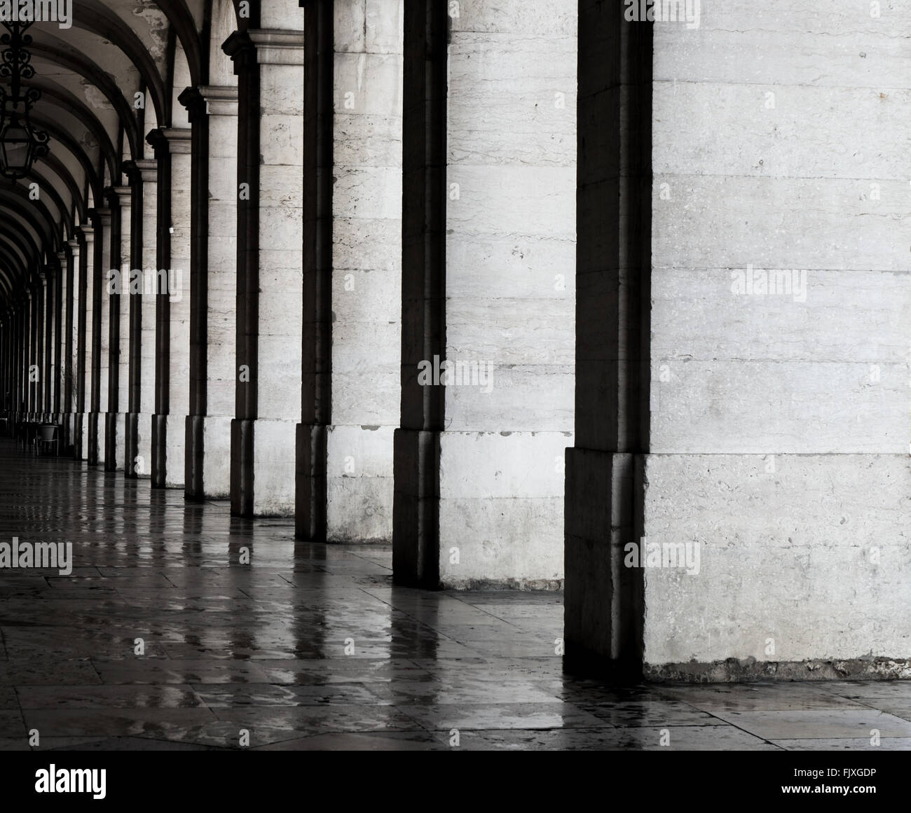 Passageway Of Historic Building - Stock Image