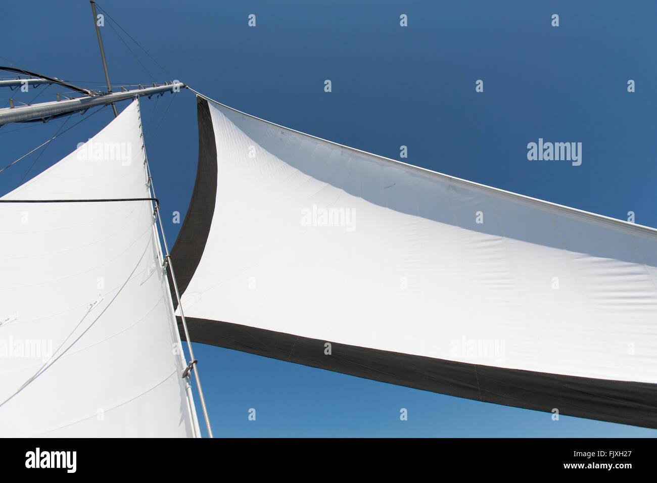 A sail on a sailboat. - Stock Image
