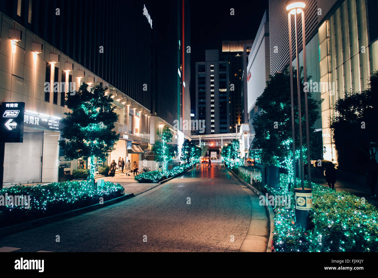 Empty Road Along Built Structures - Stock Image