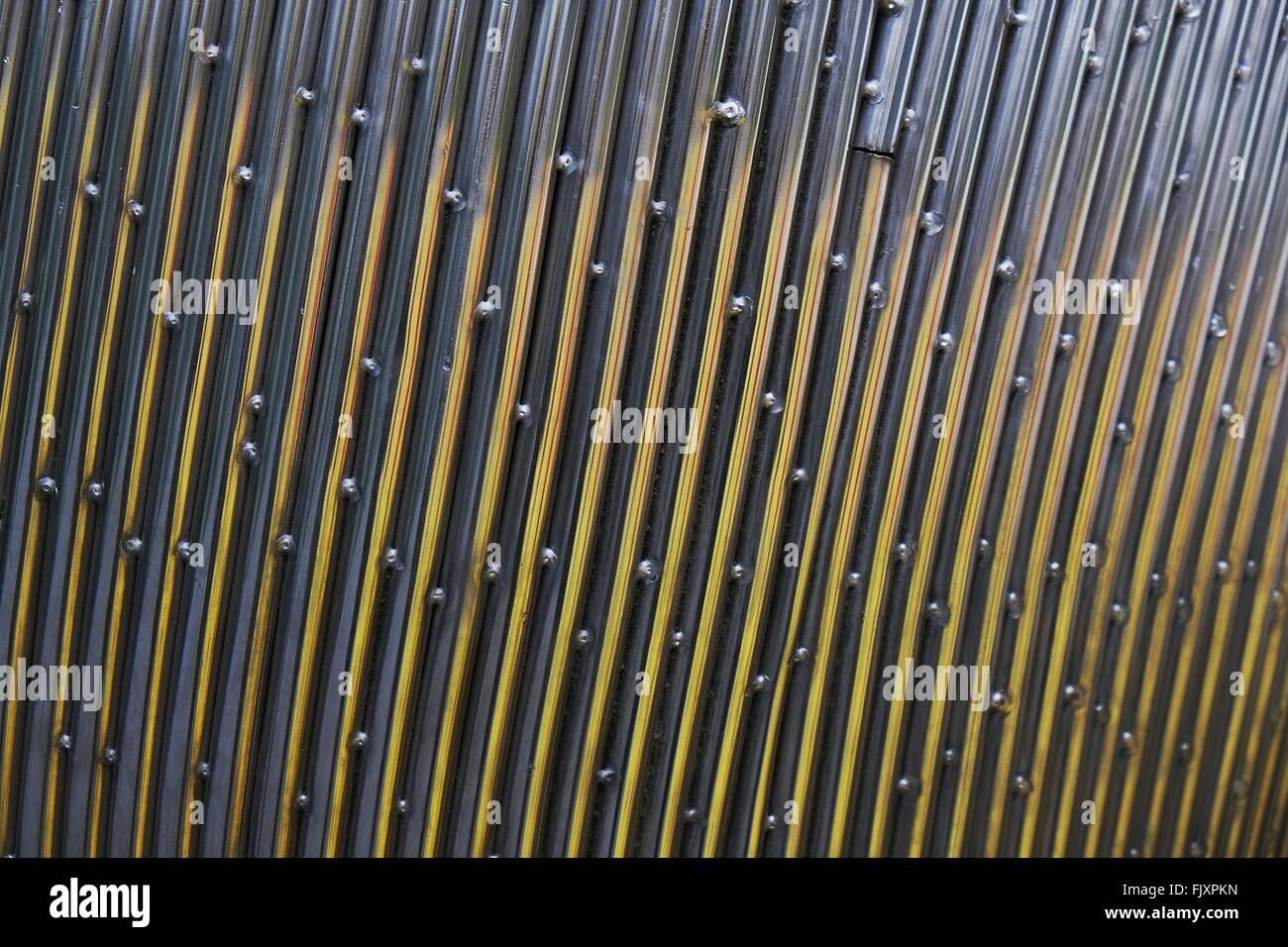 Full Frame Shot Of Metallic Sheet - Stock Image