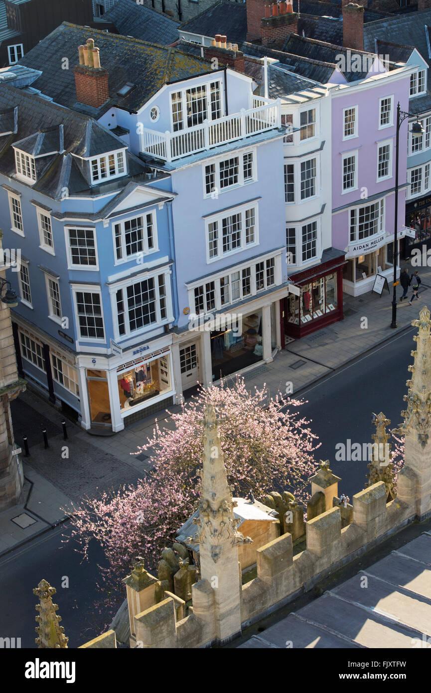 Oxford High Street. England - Stock Image