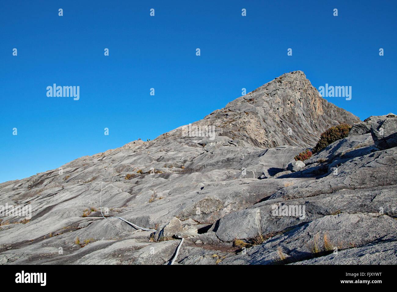 Peak of Mount Kinabalu (4095m), the highest mountain of Borneo. - Stock Image