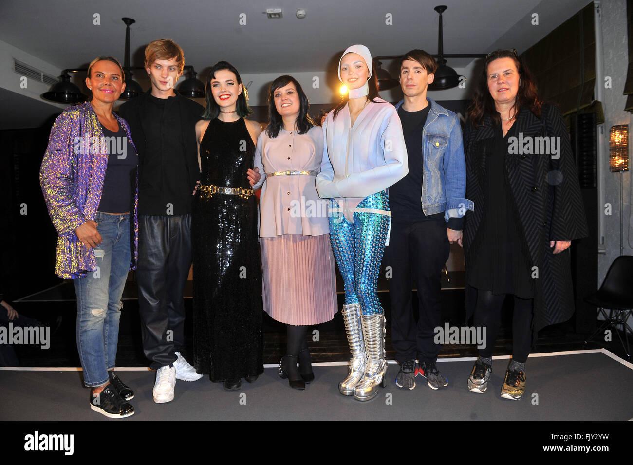 Zoolander No. 2 Fashion Award at Soho House  Featuring: Natascha Ochsenknecht, Paul Boche, Bonnie Strange, Vreni - Stock Image