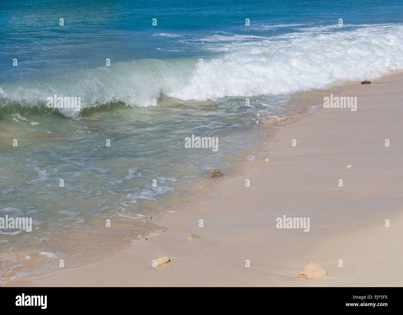 The beach at Grand Turk, Turks and Caicos, British West Indies in the Caribbean - Stock Image