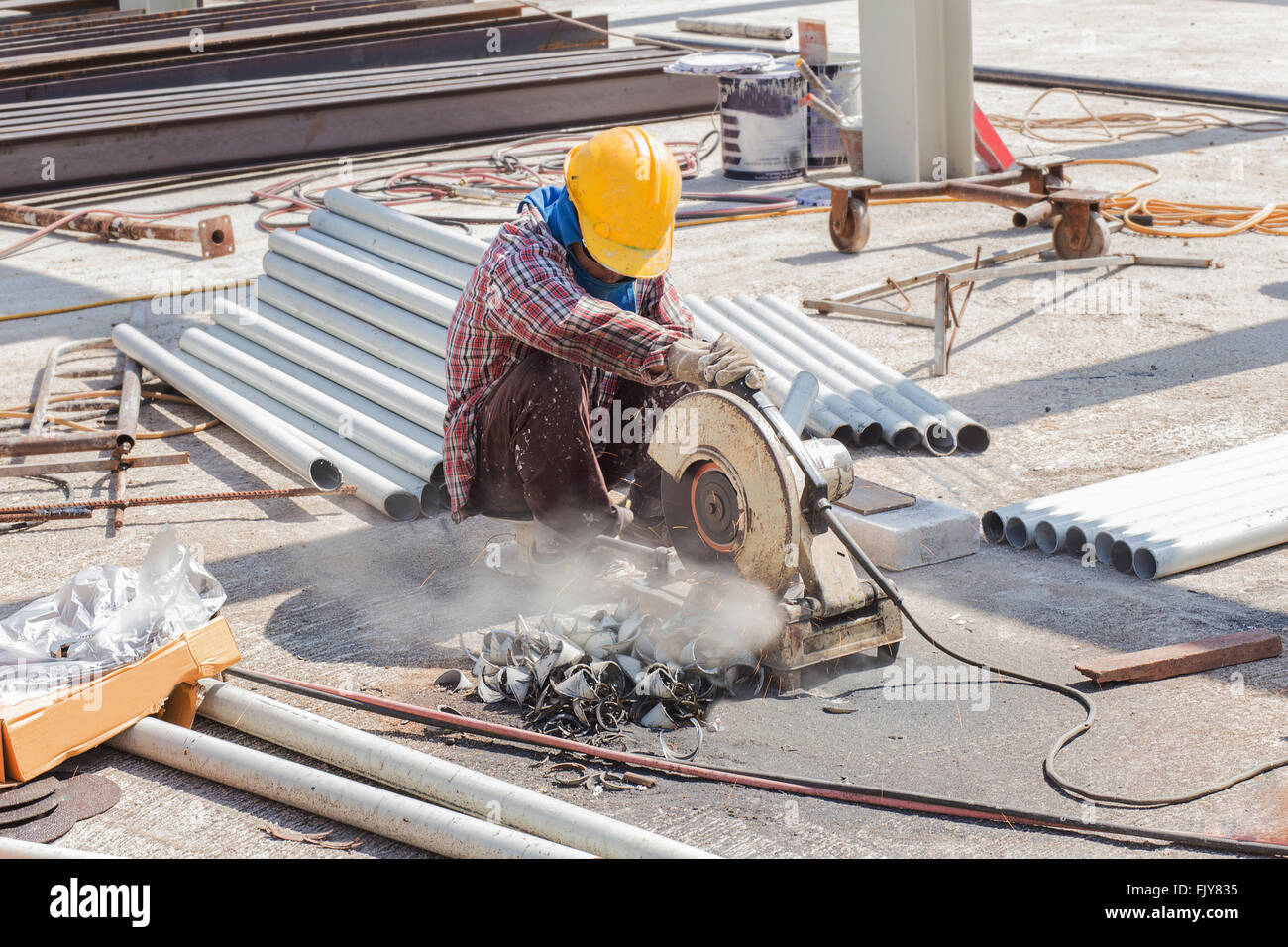 steel cutter - Stock Image