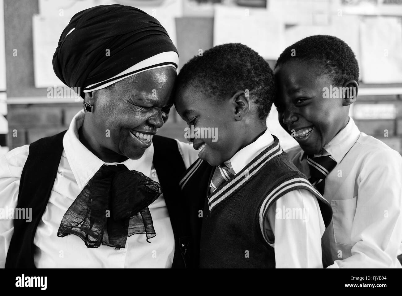 Johannesburg, Gauteng, South Africa. 30th Nov, 2015. 20 years after democracy most black children in South Africa - Stock Image