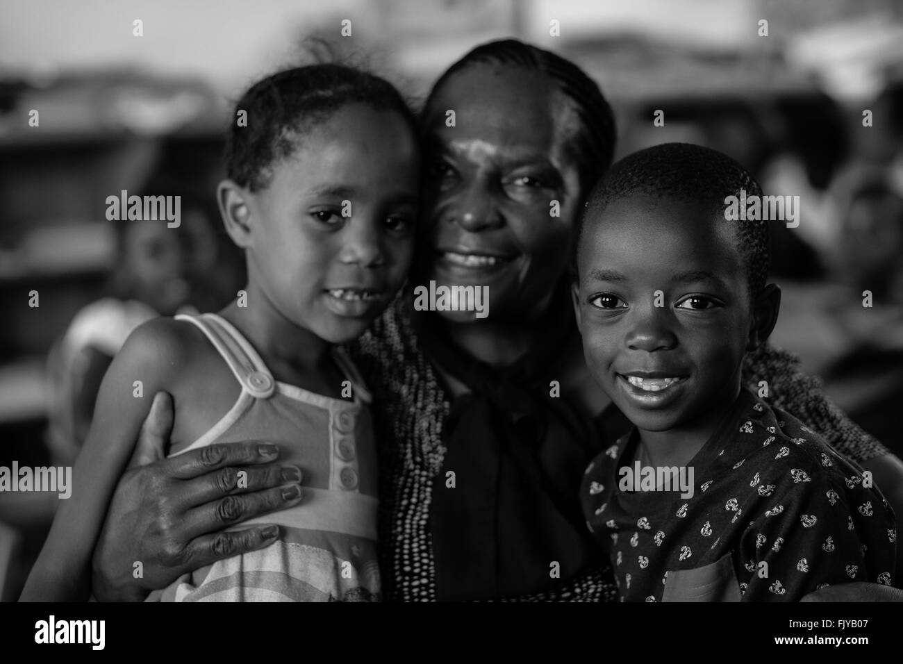 Johannesburg, Gauteng, South Africa. 27th Nov, 2015. 20 years after democracy most black children in South Africa - Stock Image