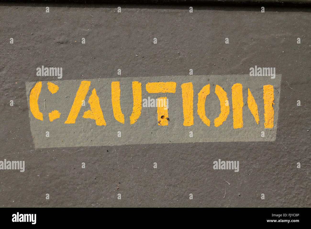 Caution paint - Stock Image