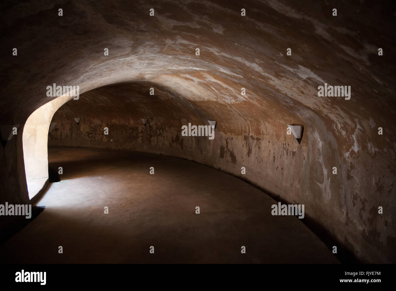Interiors Of A Tunnel - Stock Image