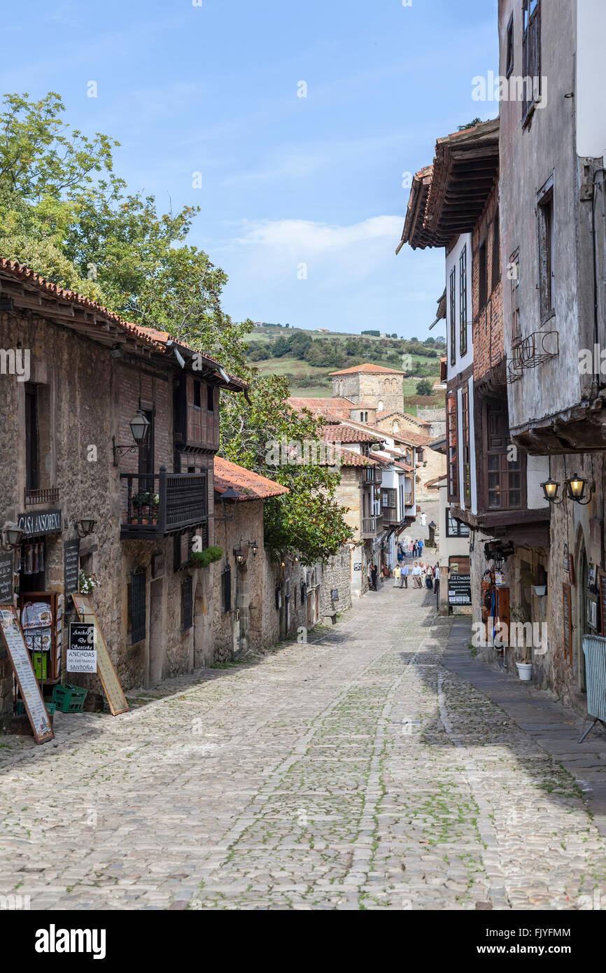 Santillana del Mar,Cantabria,Spain. - Stock Image