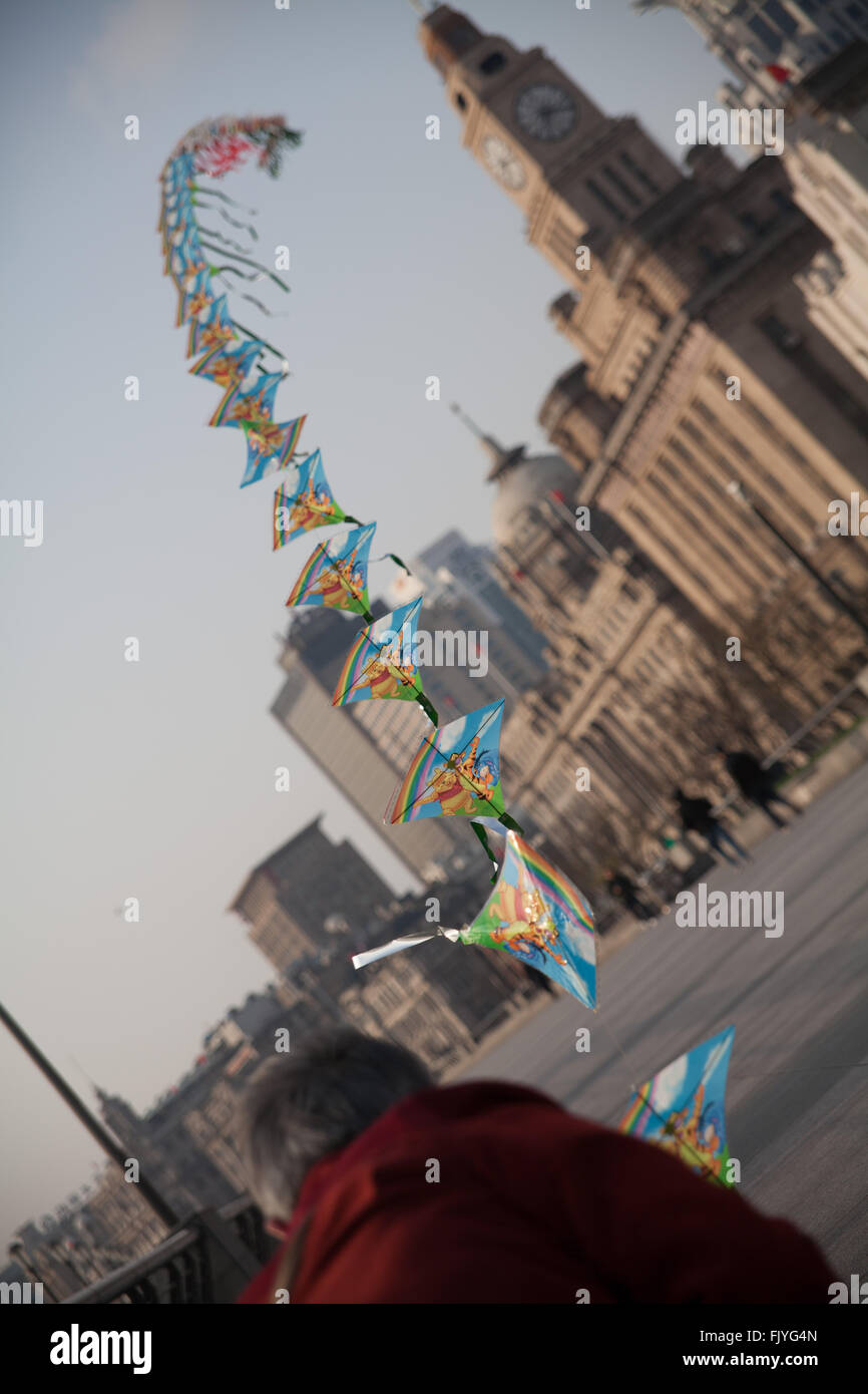 Person Flying Kites - Stock Image