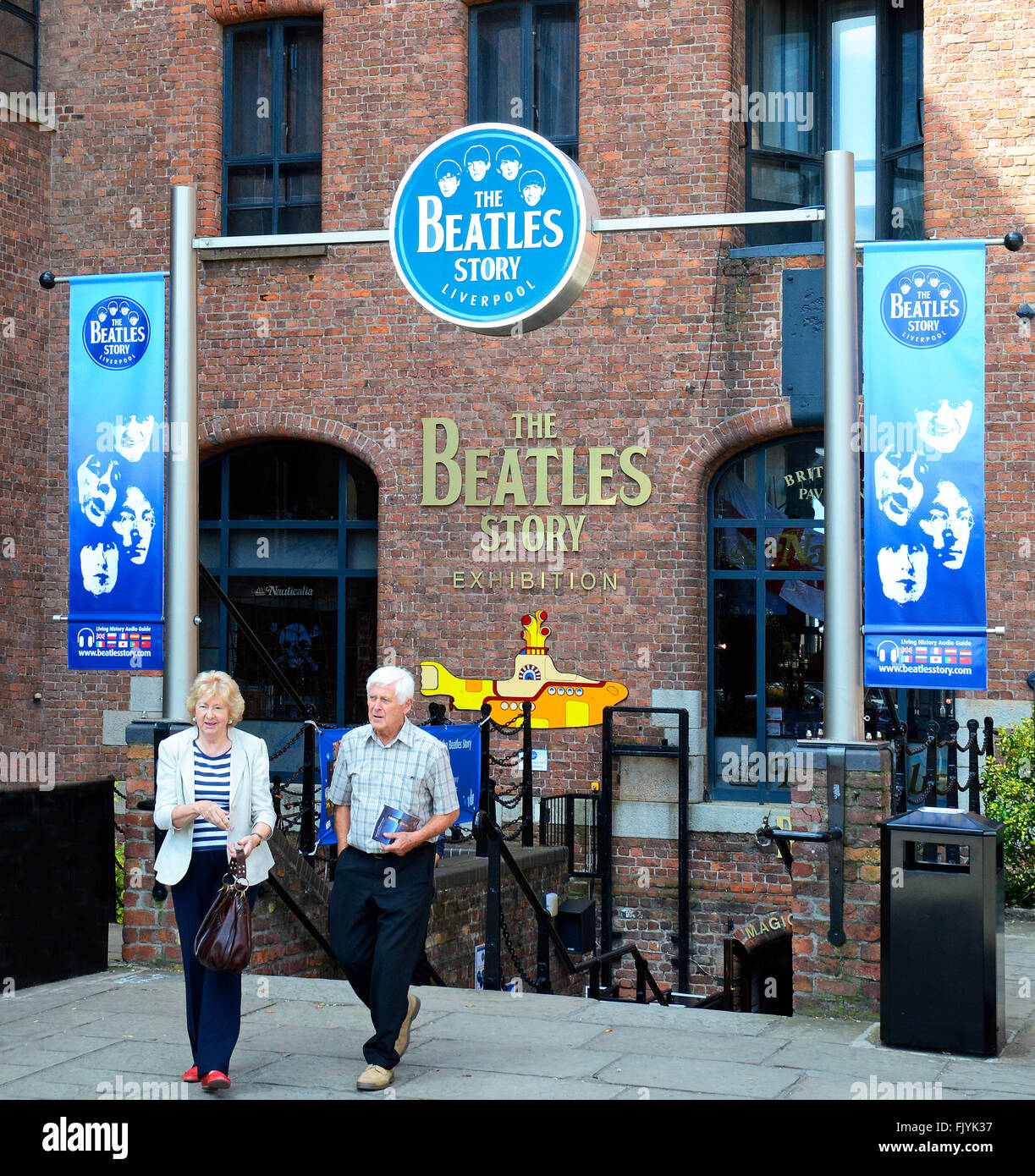 The Beatles story museum at the Albert Dock complex in Liverpool, England, UK Stock Photo
