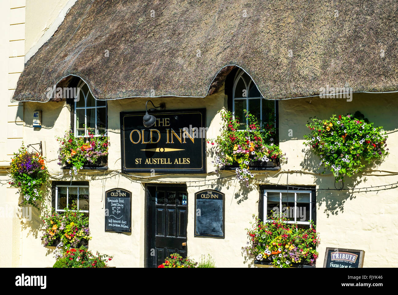 The Old Inn at Mullion in Cornwall, UK - Stock Image