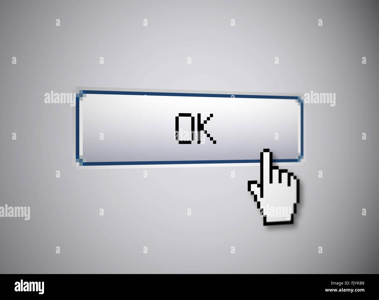 OK button - Stock Image