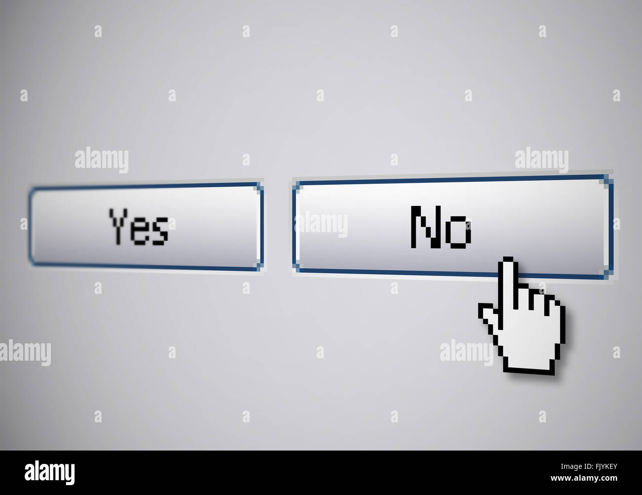 No Yes buttons - Stock Image
