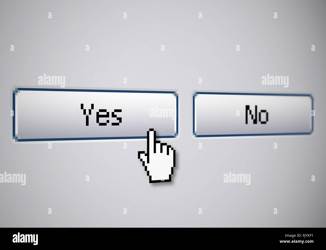 Yes No buttons - Stock Image