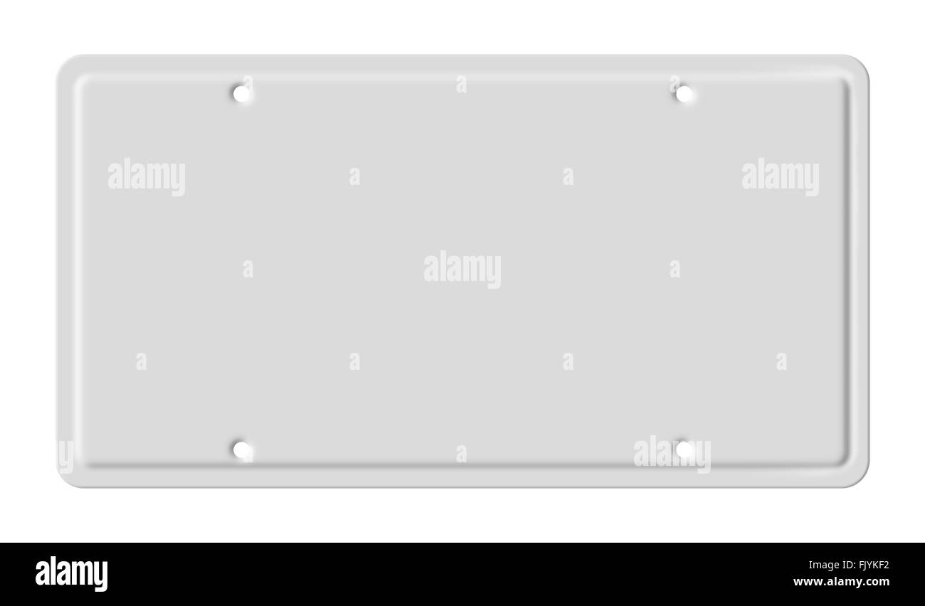 Blank car plate - Stock Image