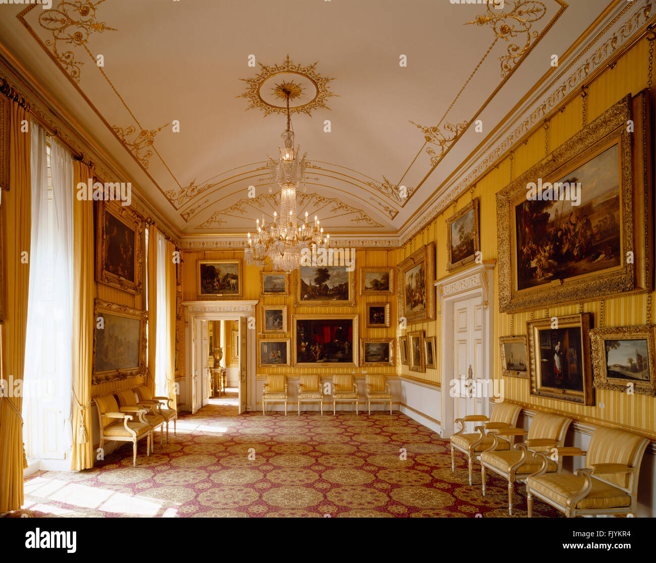 APSLEY HOUSE, London. Interior view of the Piccadilly Drawing Room. - Stock Image