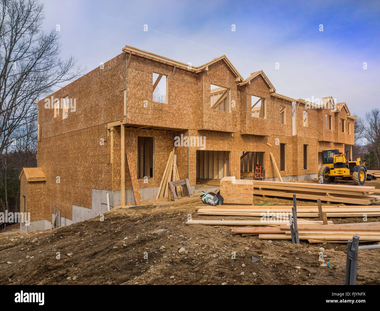 New condominium construction site - Stock Image