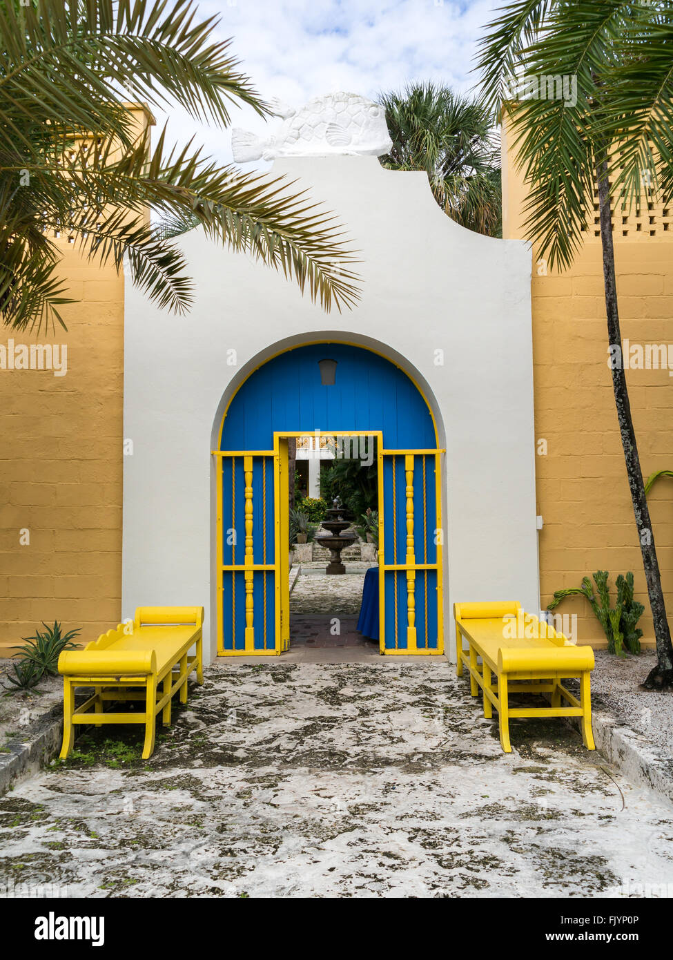 Entrance of Bonnet House estate and museum in Fort Lauderdale, Florida, USA Stock Photo